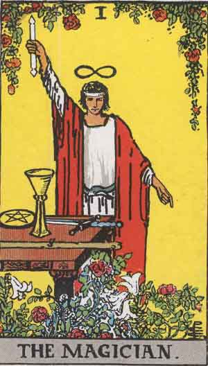 RiderWaite_Tarot_01_Magician-source-WikipediaCommons