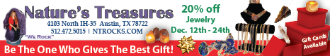 Natures Treasures - December 2015 Specials!