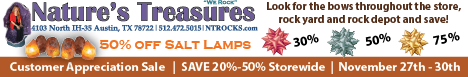 Natures Treasures - November 2015 Specials!