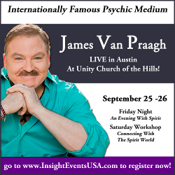 James Van Praagh - Workshop at Unity Church of the Hills - Austin Texas - Insight Events