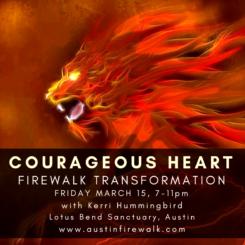 Kerri Hummingbird - Austin Firewalk Transformation - During SXSW