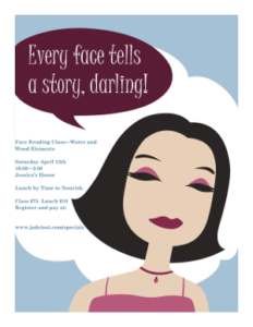 Face Reading Class for Women Flier - Sherron Hughes - Jade Institute of Face Reading - San Antonio Texas