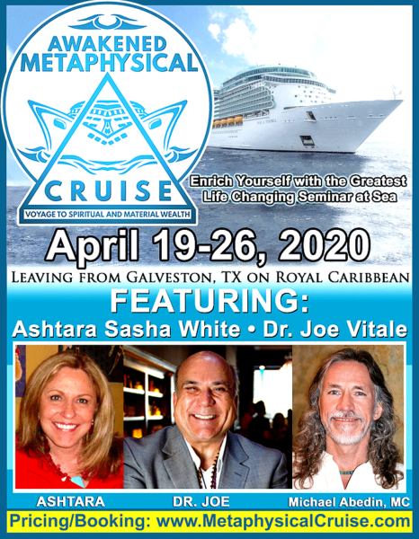 Awakened Metaphysical Cruise - Voyage to Spiritual and Material Wealth - Dr Joe Vitale - Ashtara Sasha White - Galveston Texas - Royal Caribbean flier