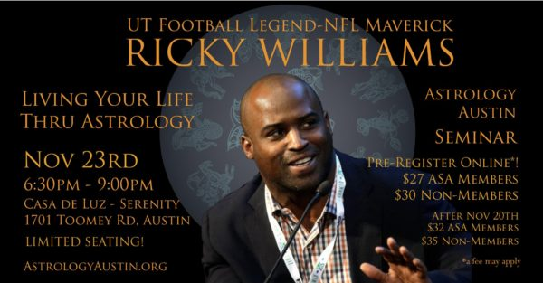 How Learning A Little Astrology Can Change Your Life - By UT And NFL Star Ricky Williams - Astrology Austin - Texas