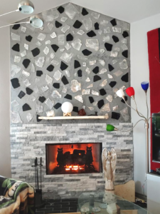 Cindy Hallett - Article - Building The Shungite Selenite Wall - Austin Texas - finished