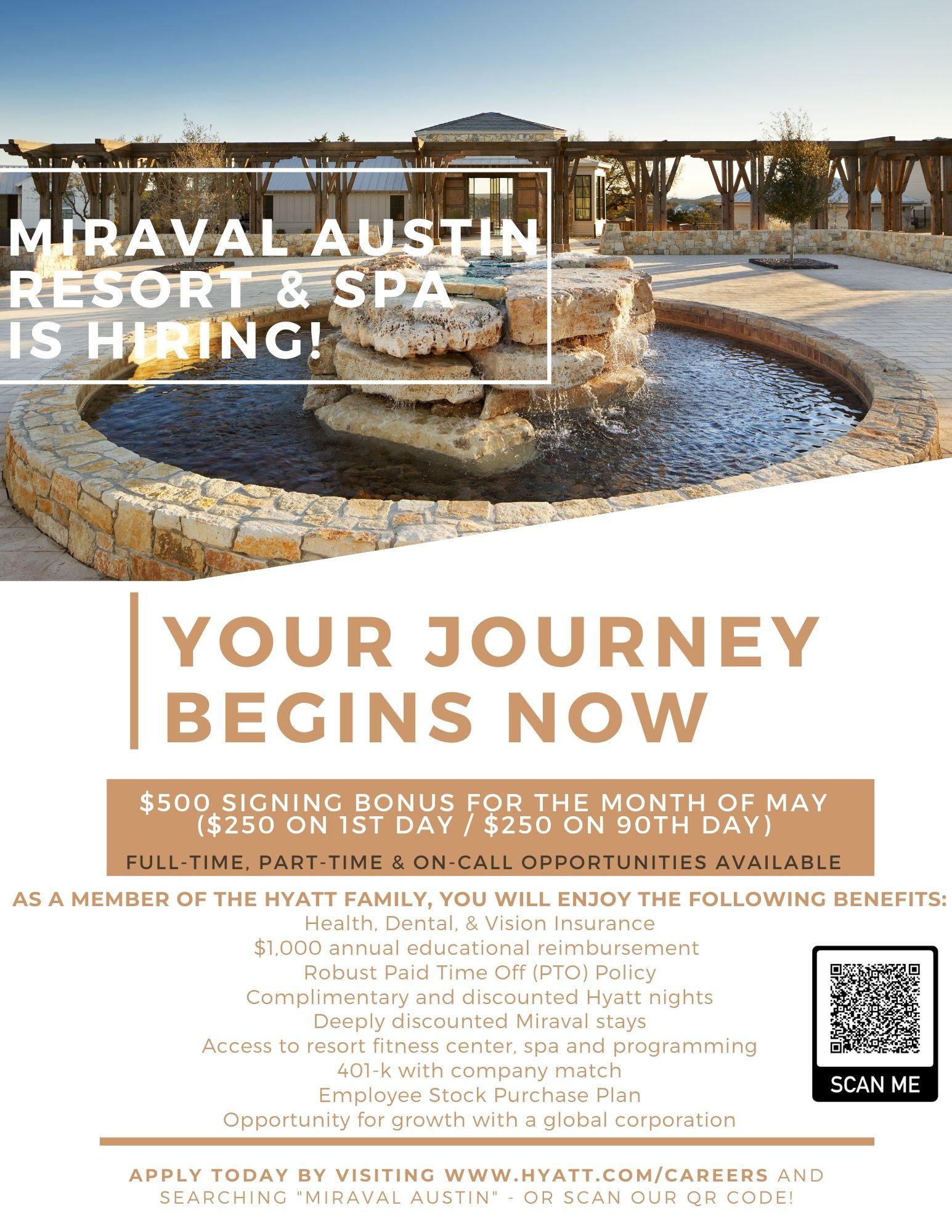 Signing-Bonus Miraval Austin Resort and Spa - May 2021